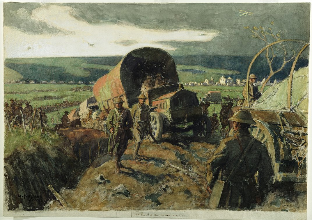 This Riveting Art From The Front Lines Of World War I Has