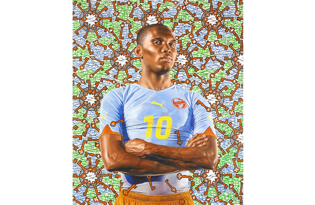 Football in Art Kehinde Wiley in collaboration with PUMA, Samuel Eto'o,