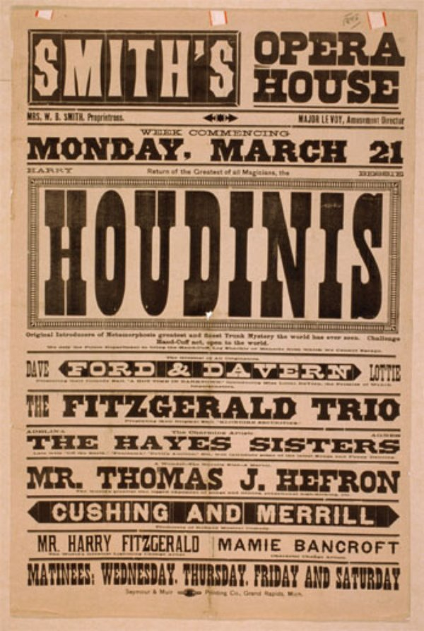 harry houdini and magic essay Harry houdini: biography & magician the performer known worldwide as harry houdini was born on march 24, 1874 in budapest although houdini often claimed to be born in appleton, wisconsin, houdini actually came to the united states when he was four years old.